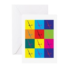 Gliding Pop Art Greeting Cards (Pk of 20)