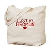 I love my fireman Tote Bag