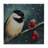 Winter Bird Tile Coaster