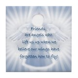 Friendship Angel Tile Coaster