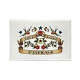Live Love Funerals Rectangle Magnet (100 pack)
