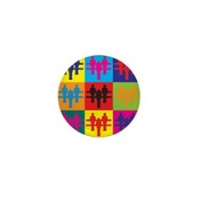 Foosball Pop Art Mini Button