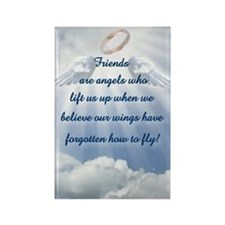 Friendship Angel Rectangle Magnet