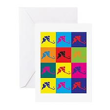 Field Hockey Pop Art Greeting Cards (Pk of 10)