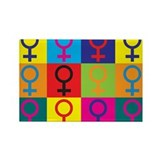 Feminism Pop Art Rectangle Magnet (10 pack)