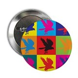 "Falconry Pop Art 2.25"" Button"