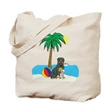 Beach Rottweiler Tote Bag