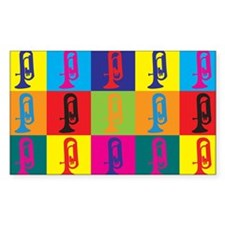 Euphonium Pop Art Rectangle Sticker 50 pk)