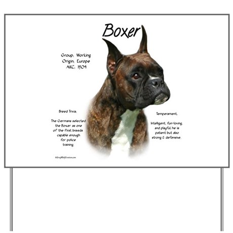 Brindle Boxer Yard Sign