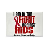 In The Fight Against AIDS 1 (Daddy) Rectangle Magn