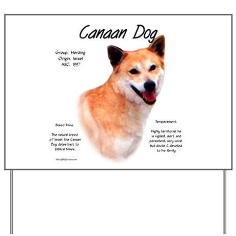 Canaan Dog Yard Sign