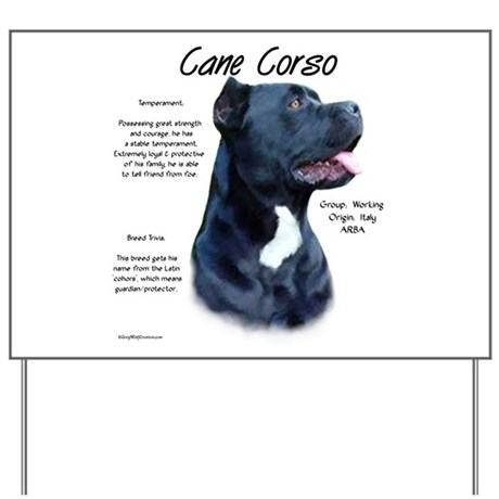 Cane Corso Yard Sign