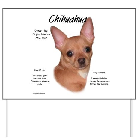 Smooth Chihuahua Yard Sign