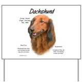 Longhaired Dachshund Yard Sign