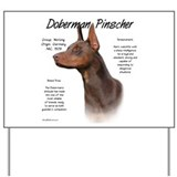 Red Doberman Pinscher Yard Sign