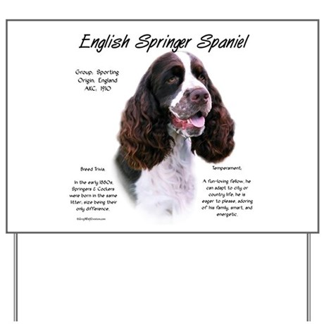 Liver English Springer Yard Sign