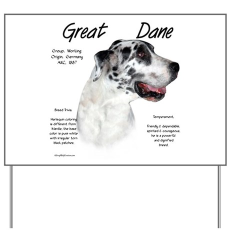 Harlequin Great Dane Yard Sign