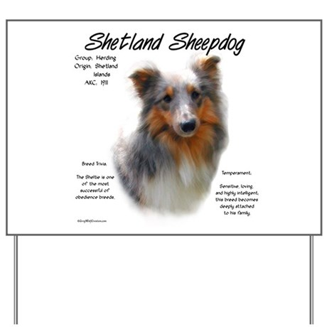 Shetland Sheepdog Yard Sign