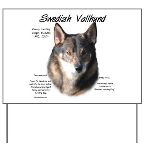 Swedish Vallhund Yard Sign