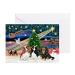 XmasSunrise/Cavalier #6 Greeting Cards (Pk of 20)