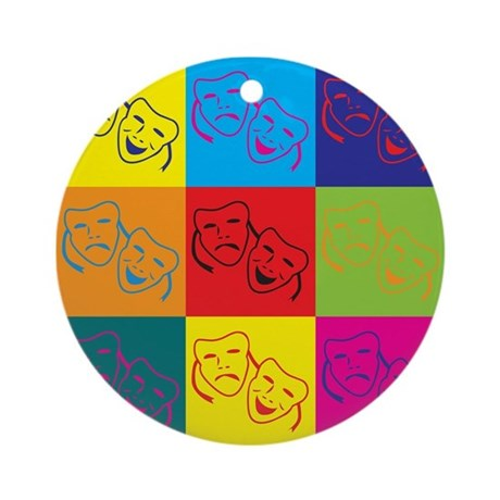 Drama Pop Art Ornament (Round)