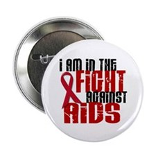"In The Fight Against AIDS 1 2.25"" Button"