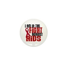 In The Fight Against AIDS 1 Mini Button (100 pack)