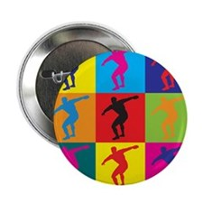 "Discus Pop Art 2.25"" Button"
