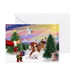 XmasSunrise/Cavalier #6 Greeting Card