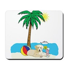 Beach Yellow Lab Mousepad