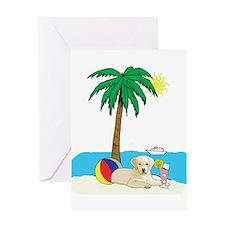 Beach Yellow Lab Greeting Card