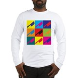 Cutting Meat Pop Art Long Sleeve T-Shirt