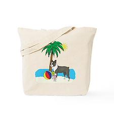 Beach Boston Terrier Tote Bag