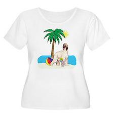Beach Afghan Hound T-Shirt