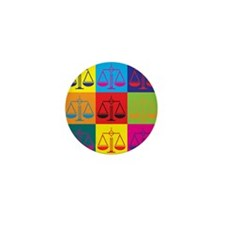 Criminal Justice Pop Art Mini Button (10 pack)