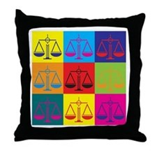 Criminal Justice Pop Art Throw Pillow