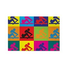Crewing Pop Art Rectangle Magnet (100 pack)