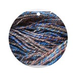 Blue Handspun Ornament (Round)