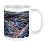 Blue Handspun Coffee Mug