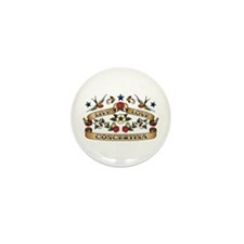 Live Love Concertina Mini Button (100 pack)