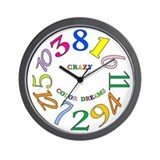 Crazy hours Wall Clock