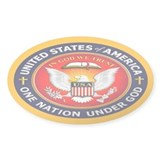One Nation Under God Oval Stickers