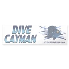 Dive Cayman (blue) Bumper Bumper Sticker