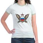 Russia Emblem Jr. Ringer T-Shirt