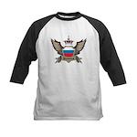 Russia Emblem Kids Baseball Jersey
