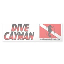 Dive Cayman (red) Bumpersticker