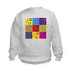 Coins Pop Art Kids Sweatshirt
