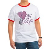 Navy Mom Heart N Star T