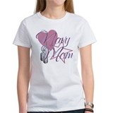 Navy Mom Heart N Star Tee