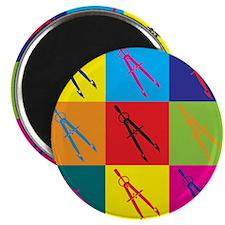 Civil Engineering Pop Art Magnet